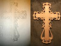 Резной крест. Заготовка